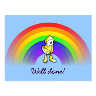 rainbow chick postcard