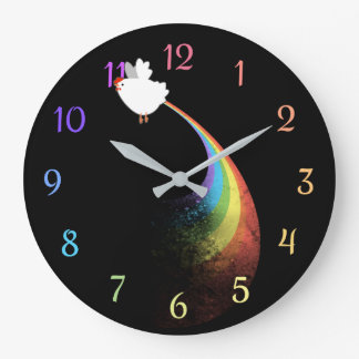 Rainbow Chicken Farts Clock