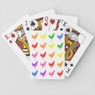 Rainbow Chicken Playing Cards