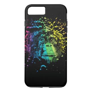 Rainbow Chimpanzee on Black iPhone 7 Plus Case