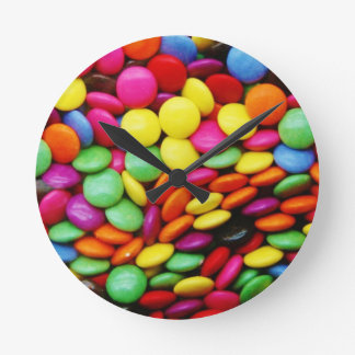 Rainbow Chocolate Candy Round Clock