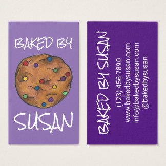 Rainbow Chocolate Chip Cookie Baked By Bakery Food Business Card