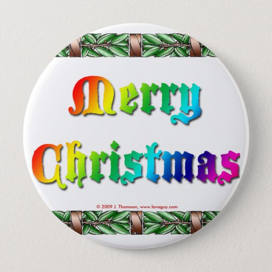 Rainbow Christmas Button