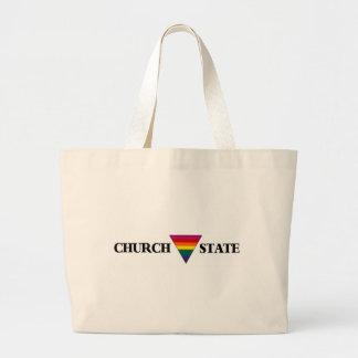 Rainbow church triangle state canvas bag