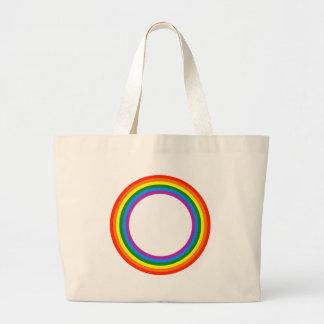Rainbow Circle Beach Bag Large