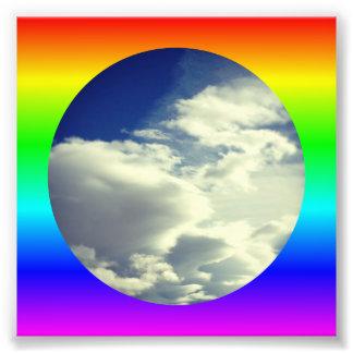 Rainbow Circle Border Photo Print