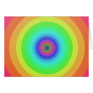 Rainbow circles card