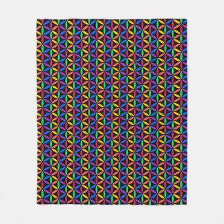 Rainbow circles fleece blanket