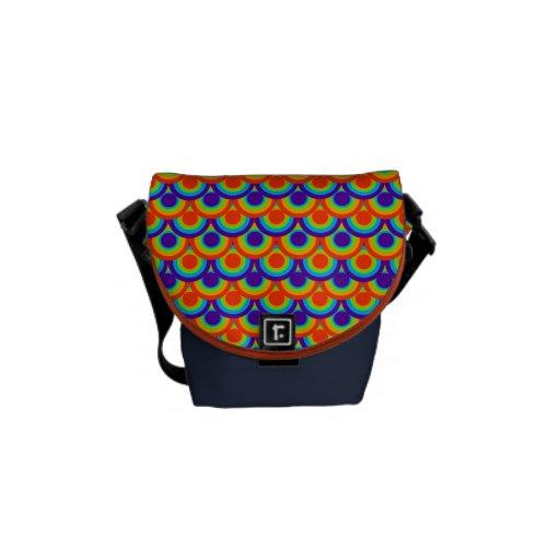 Rainbow circles patterns Mini Messenger Bag