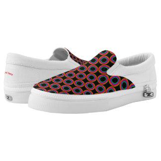 Rainbow circles slip on shoes