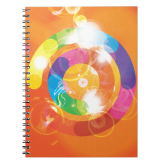 Rainbow Circles Spiral Notebook