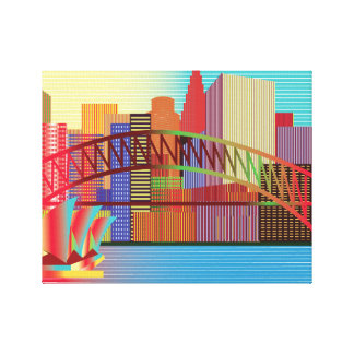 Rainbow City Canvas Print