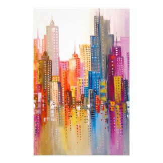 Rainbow city personalized stationery