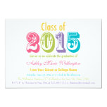 Rainbow Class of 2015 Graduation Party Invitation 13 Cm X 18 Cm Invitation Card