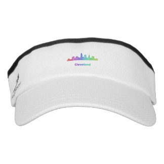 Rainbow Cleveland skyline Visor