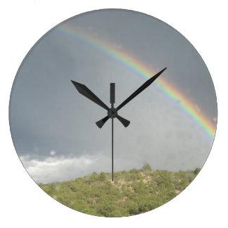Rainbow clock (round)