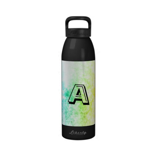 Rainbow Cloud Background Cloudy Customize Initial Water Bottle