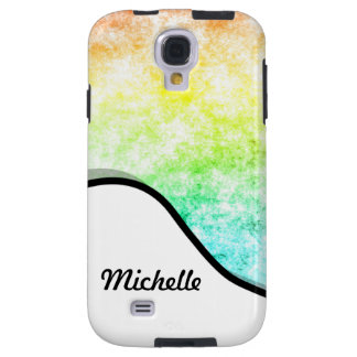 Rainbow Cloud Background Cloudy Personalized Name Galaxy S4 Case