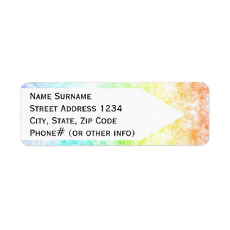 Rainbow Cloud Background Customize or Stay Cloudy Return Address Label