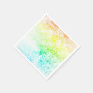 Rainbow Cloud Background Customize or Stay Cloudy Disposable Napkin