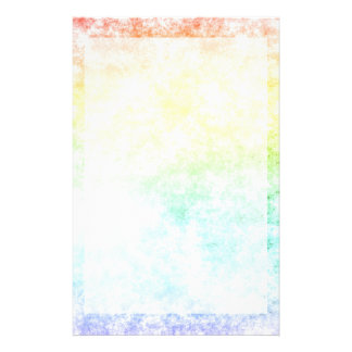 Rainbow Cloud Background Customize or Stay Cloudy Personalized Stationery