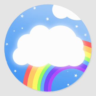 Rainbow cloud custom name  - stickers