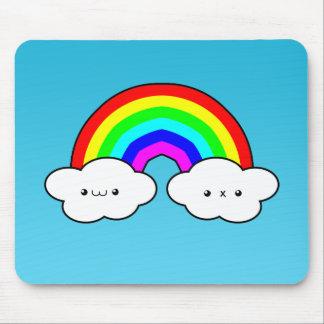 Rainbow Cloud Mouse Pad