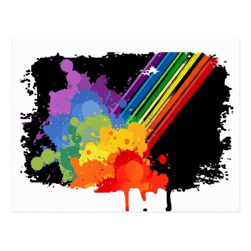 RAINBOW CLOUD -.png Postcard