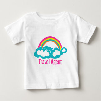Rainbow Cloud Travel Agent Baby T-Shirt