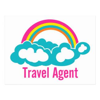 Rainbow Cloud Travel Agent Postcard