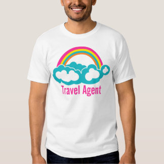 Rainbow Cloud Travel Agent Tee Shirt