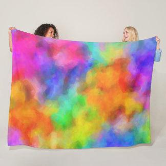 Rainbow Clouds Fleece Blanket