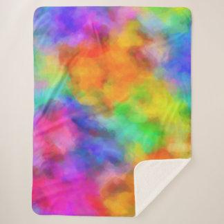 Rainbow Clouds Sherpa Blanket