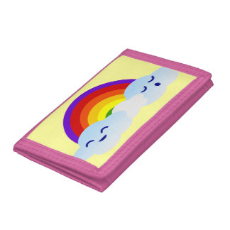 Rainbow Clouds Tri-fold Wallets