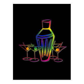 Rainbow Cocktails Postcard