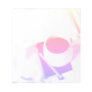 Rainbow Coffee Cup Breakfast in Bed Tea Notepad