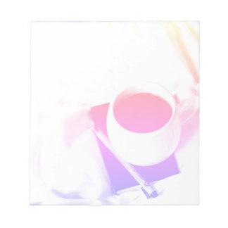 Rainbow Coffee Cup Breakfast in Bed Tea Notepads