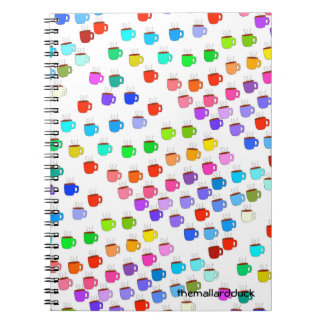 Rainbow Coffee Cups Notebook