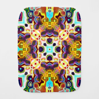 Rainbow Color Abstract Pattern Burp Cloth
