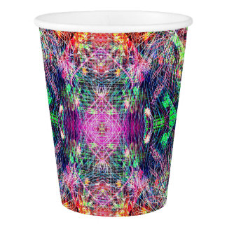 Rainbow Color Abstract Pattern Paper Cup