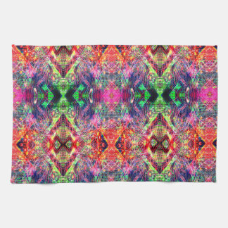 Rainbow Color Abstract Pattern Tea Towel