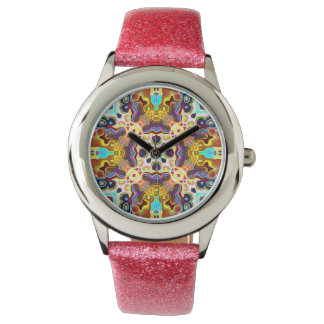 Rainbow Color Abstract Pattern Watch