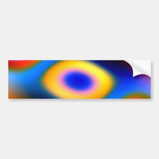Rainbow Color Blobs Bumper Sticker