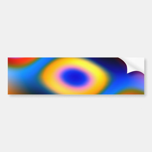 Rainbow Color Blobs Bumper Stickers