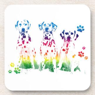 Rainbow color creative Doggie Portrait Designs Coaster