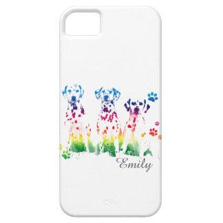 Rainbow color creative Doggie Portrait Designs iPhone 5 Cases