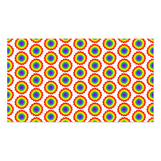 Rainbow Color Flower Pattern. Business Card