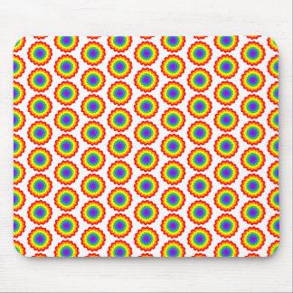 Rainbow Color Flower Pattern Mousepads