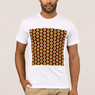 Rainbow Color Flower Pattern. On Black. T-Shirt