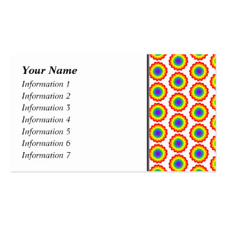 Rainbow Color Flower Pattern. Pack Of Standard Business Cards